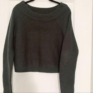 Rubbish Crew Neck Cropped Sweater